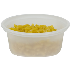 8 oz. Translucent Quad In-Mold Container (Lid Sold Separately)