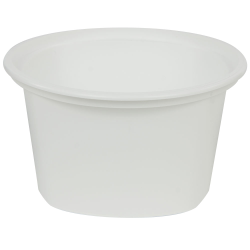 12 oz. White Quad In-Mold Container (Lid Sold Separately)