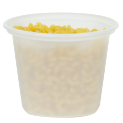 16 oz. Translucent Quad In-Mold Container (Lid Sold Separately)