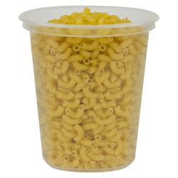 24 oz. Clarified Quad In-Mold Container (Lid Sold Separately)