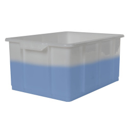 """20 Liter Kartell HDPE Stackable Tote/Tank - 16.3"""" L x 12.4"""" W x 7.9"""" Hgt."""