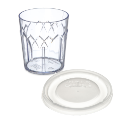 Dinex® Clear Fenwick Tumblers & Lids