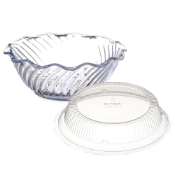 Dinex® Clear Tulip Swirl Cups & Lids