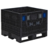 "BulkPak® 3230 KD Black Collapsible Containers – 32""L x 30""W x 25""H"
