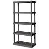 """5 Shelf Gray Shelving Unit - 36"""" L x 18"""" W x 75-1/8"""" H"""