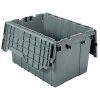 "Gray Akro-Mils® Attached Lid Container 21-1/2"" L x 15"" W x 12-1/2"" H OD-"