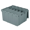 "Gray Akro-Mils® Attached Lid Container - 24"" L x 19-1/2"" W x 12-1/2"" H OD"