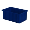 "16-1/2"" L x 10-7/8"" W x 7"" H Dark Blue Divider Box"