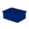 "22-5/16"" L x 17-5/16"" W x 8"" H  Dark Blue Divider Box"