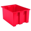 "23-1/2""L x 19-1/2""W x 10""H Red Akro-Mils® Nest & Stack Container"