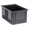 "Conductive Dividable Grid Container - 16-1/2"" L x 10-7/8"" W x 8"" Hgt."