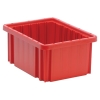 "Red Dividable Grid Container - 10-7/8"" L x 8-1/4"" W x 5"" Hgt."