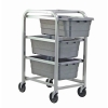 "Gray 3 Tub Rack - 27""L x 19""W x 41""H"