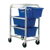 "Blue 3 Tub Rack - 27""L x 19""W x 41""H"