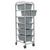 "Gray 6 Tub Rack - 27""L x 19""W x 71""H"