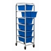 "Blue 6 Tub Rack - 27""L x 19""W x 71""H"