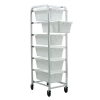 "White 6 Tub Rack - 27""L x 19""W x 71""H"