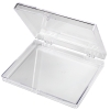 "Clear Hinged Box - 3-9/16"" L x 2-9/16"" W x 1/2"" Hgt."
