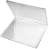 "Clear Hinged Box - 4-5/8"" L x 3-1/2"" W x 1/4"" Hgt."