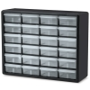 "24 Drawer Black Plastic Storage Cabinet 20"" L x 6-3/8"" W x 15-13/16"" H"