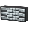 "26 Drawer Black Plastic Storage Cabinet 20"" L x 6-3/8"" W x 10-11/32"" H"