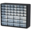 "44 Drawer Black Plastic Storage Cabinet 20"" L x 6-3/8"" W x 15-13/16"" Hgt."