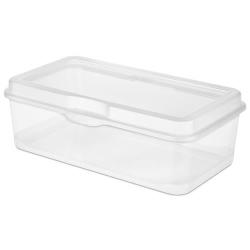 Large Clear Sterilite ® FlipTop Storage Box - 13-1/8
