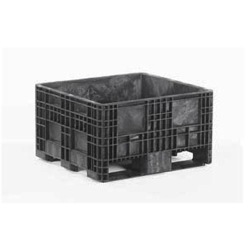 "BulkPak® 3230 HDRS Black Fixed Wall Container - 32""L x 30""W x 18""H"