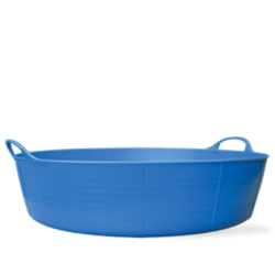 9 Gallon Blue Large Shallow Tub