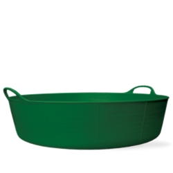 9 Gallon Green Large Shallow Tub