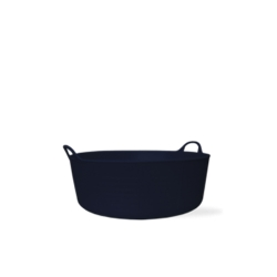 3.9 Gallon Black Small Shallow Tub
