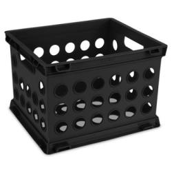 Sterilite ® Black Small Storage Crate - 9.25