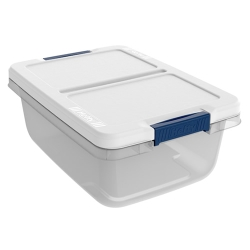 "15 Quart Hefty® White Storage Bin - 16.79"" L x 12"" W x 6.6"" H"