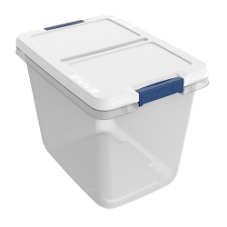 "29 Quart Hefty® White Storage Bin - 16.79"" L x 12"" W x 13.05"" H"