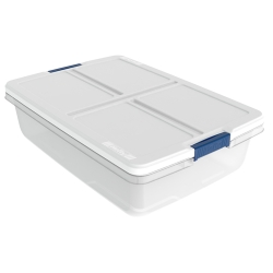 "34 Quart Hefty® White Storage Bin - 23.98"" L x 16.81"" W x 6.6"" H"