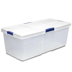 "100 Quart Hefty® White Storage Bin - 36"" L x 16.8"" W x 13.2"" H"