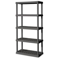 5 Shelf Gray Shelving Unit - 36