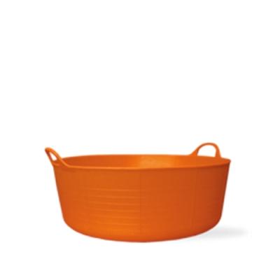 3.9 Gallon Orange Small Shallow Tub