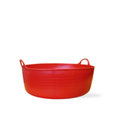 3.9 Gallon Red Small Shallow Tub