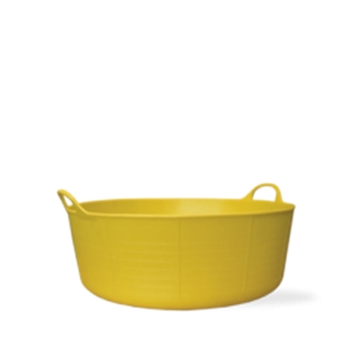 3.9 Gallon Yellow Small Shallow Tub