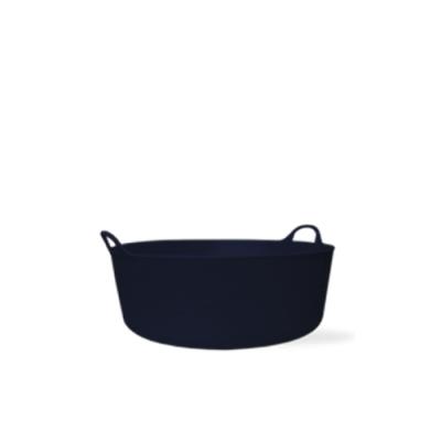 3.9 Gallon Black Small Shallow Tub