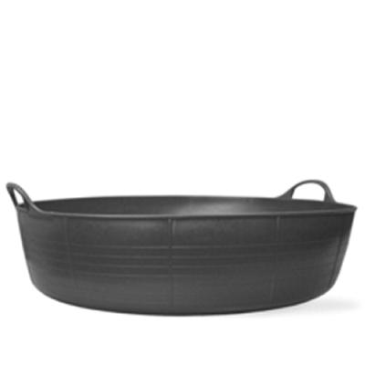 9.2 Gallon Black Large Shallow Tub