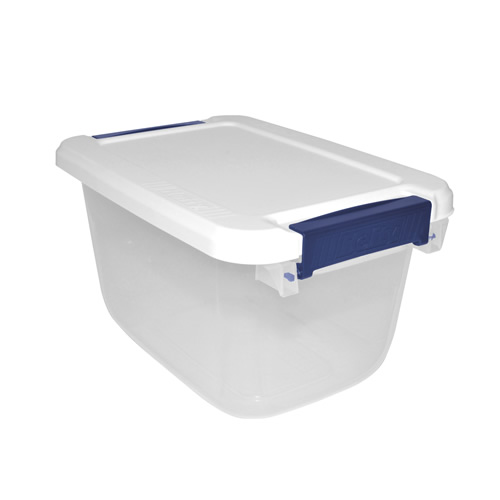 "6.5 Quart Hefty® White Storage Bin - 11.9"" L x 8.2"" W x 6.6"" H"