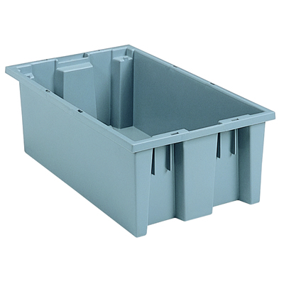 "18"" L x 11"" W x 6"" Hgt. Gray Akro-Mils® Nest & Stack Container"