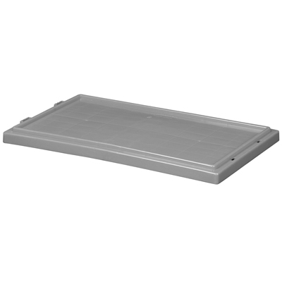 "Gray Cover for 19-1/2"" L x 15-1/2"" W Akro-Mils® Nest & Stack Containers"