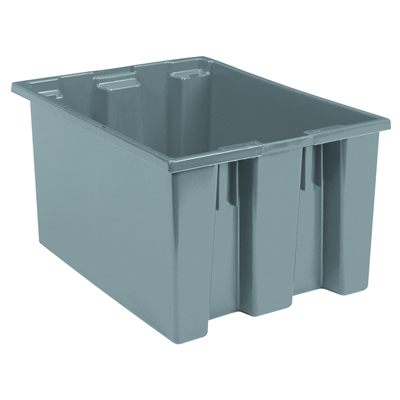 "23-1/2""L x 19-1/2""W x 13""H Gray Akro-Mils® Nest & Stack Container"