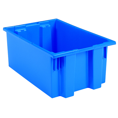 "19-1/2""L x 15-1/2""W x 10""H Blue Akro-Mils® Nest & Stack Container"