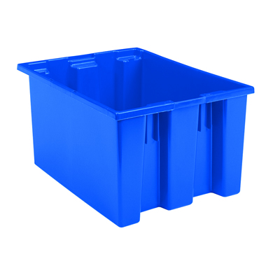 """23-1/2"""" L x 19-1/2"""" W x 13"""" Hgt. Blue Akro-Mils® Nest & Stack Container"""