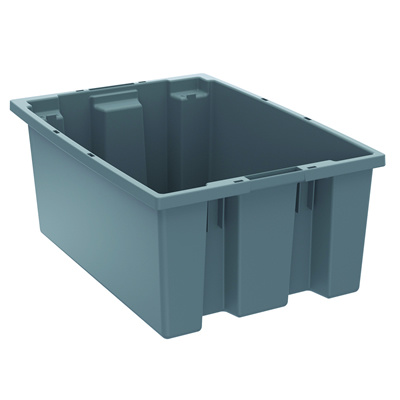"19-1/2"" L x 13-1/2"" W x 8"" Hgt. Gray Akro-Mils® Nest & Stack Container"