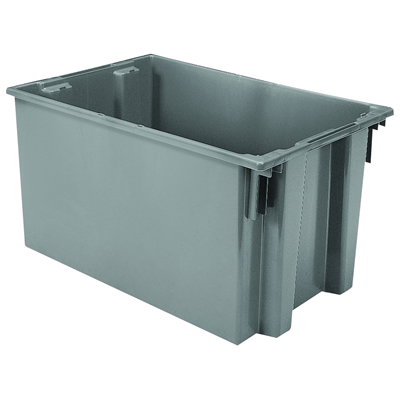 "29-1/2""L x 19-1/2""W x 15""H Gray Akro-Mils® Nest & Stack Container"